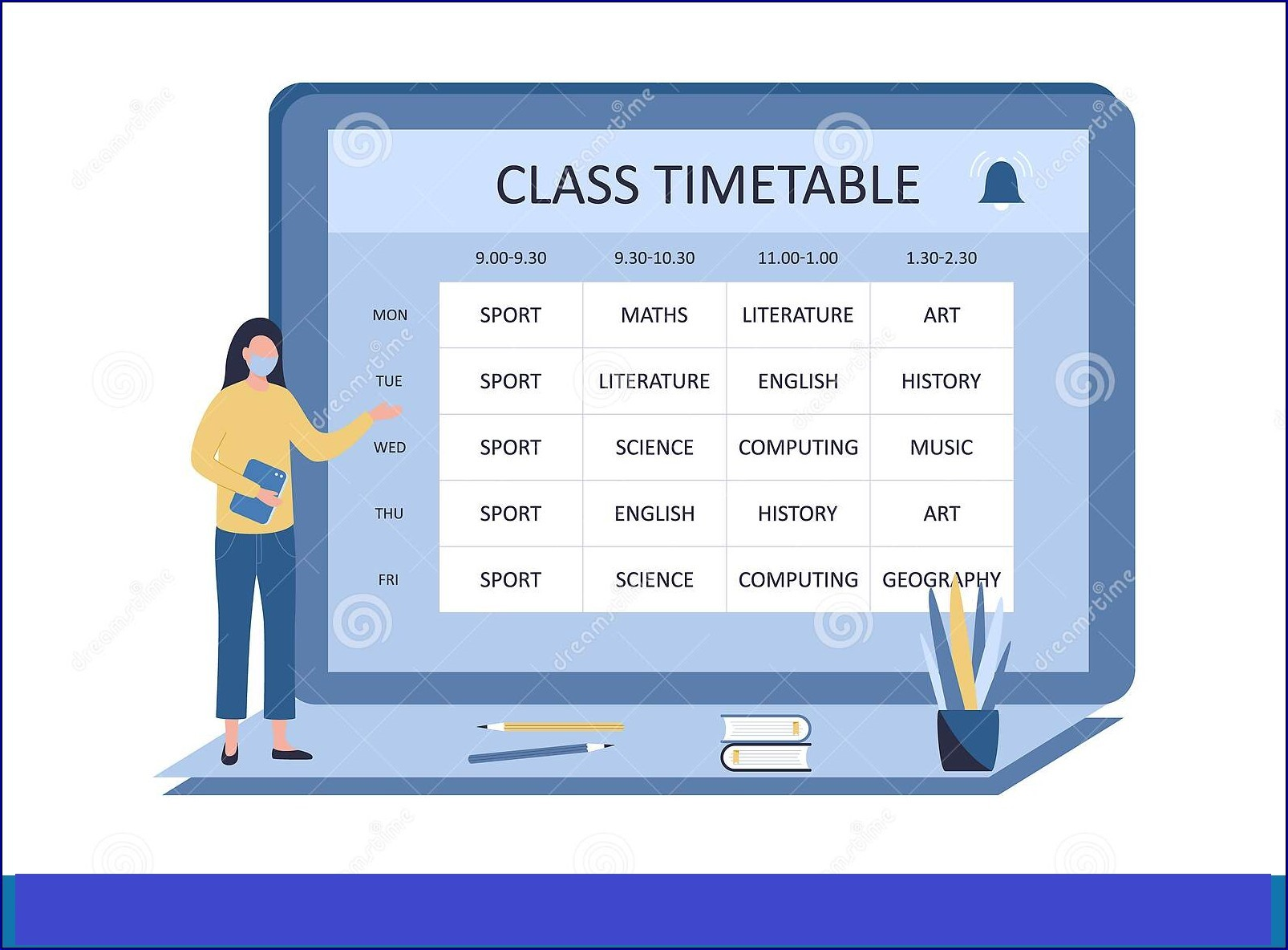 Class Timetable Example