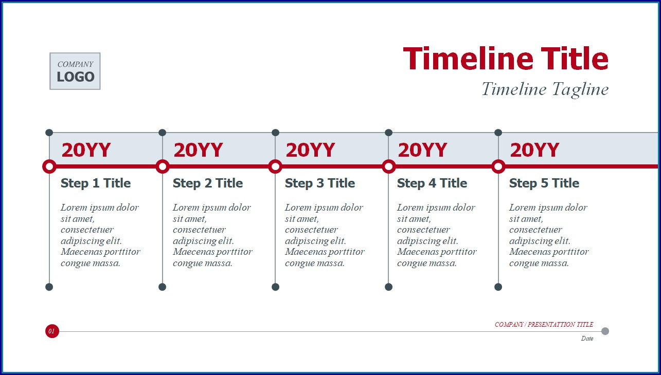 Example of Blank Timeline