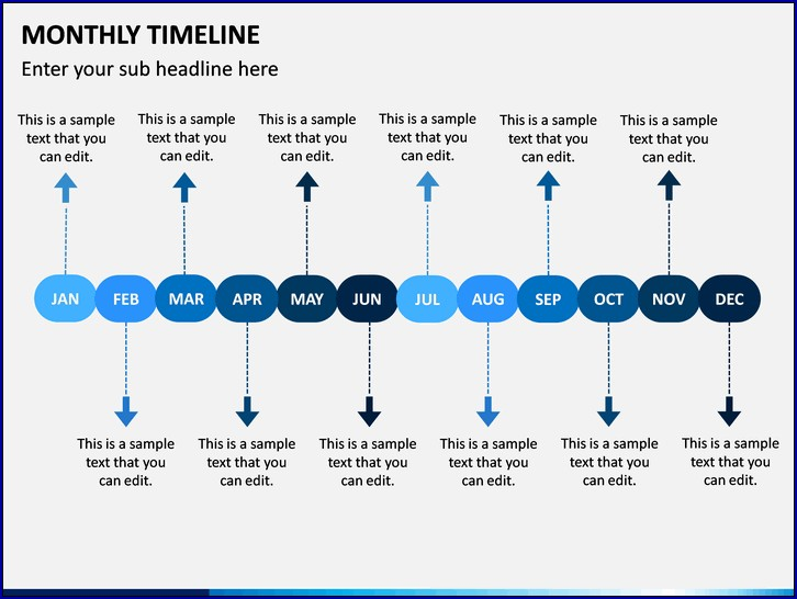 Example of Monthly Timeline Template