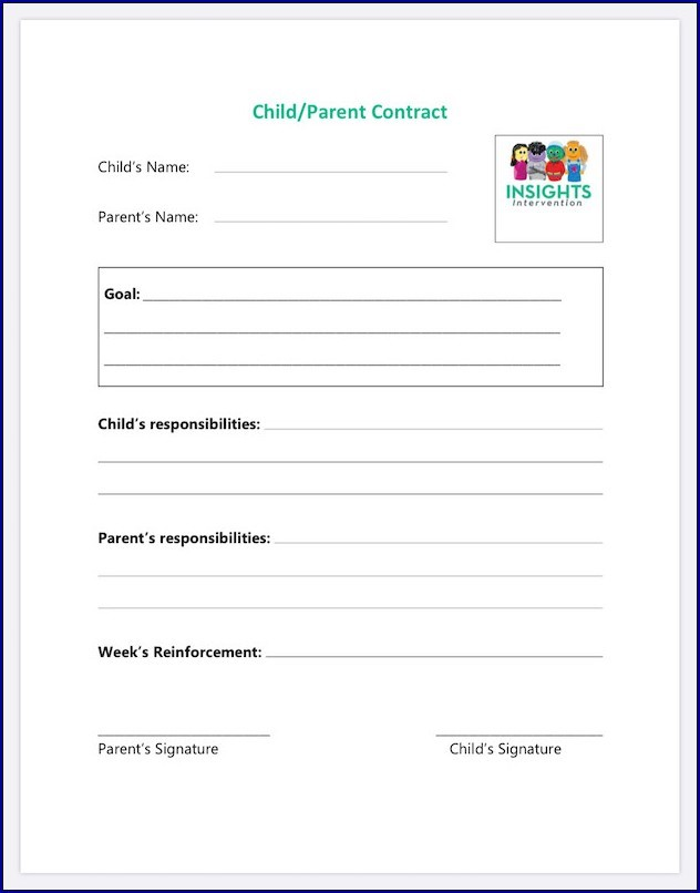 Example of Parent Child Contract