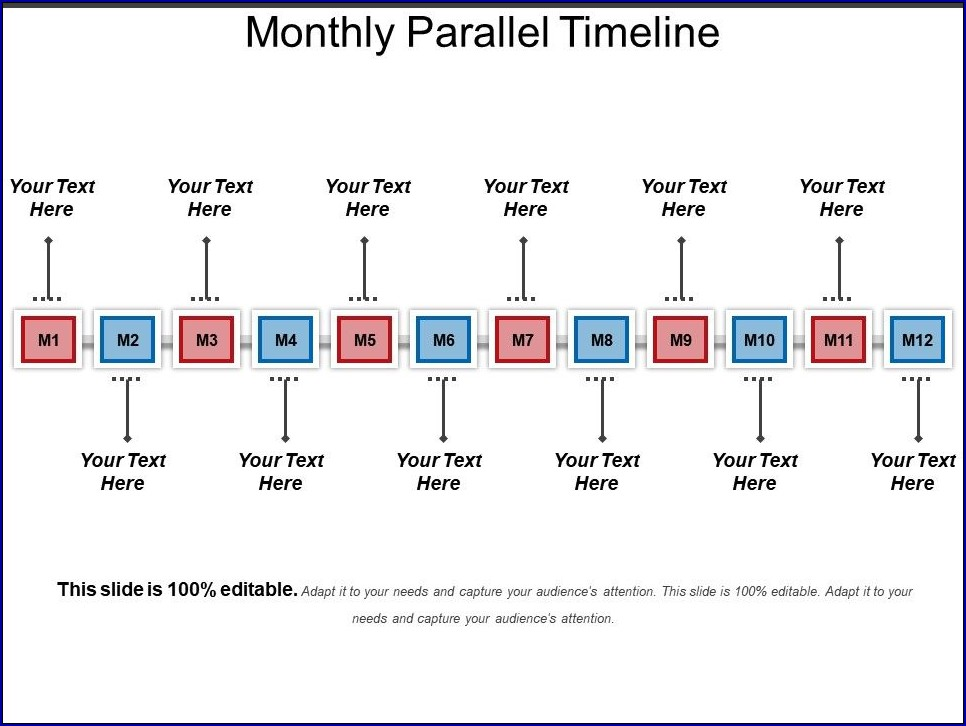 Monthly Timeline Template Example