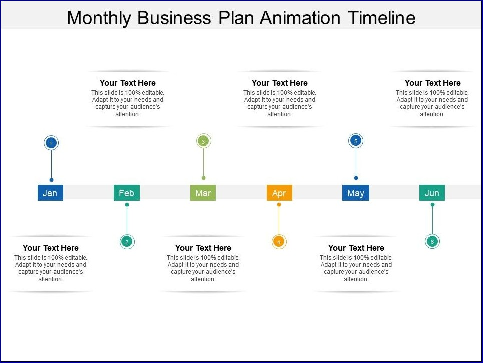 Monthly Timeline Template Sample