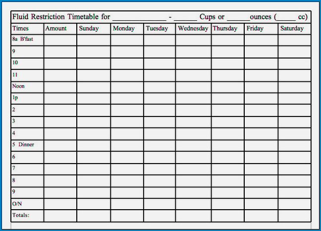 Sample of Caregiver Daily Checklist Template