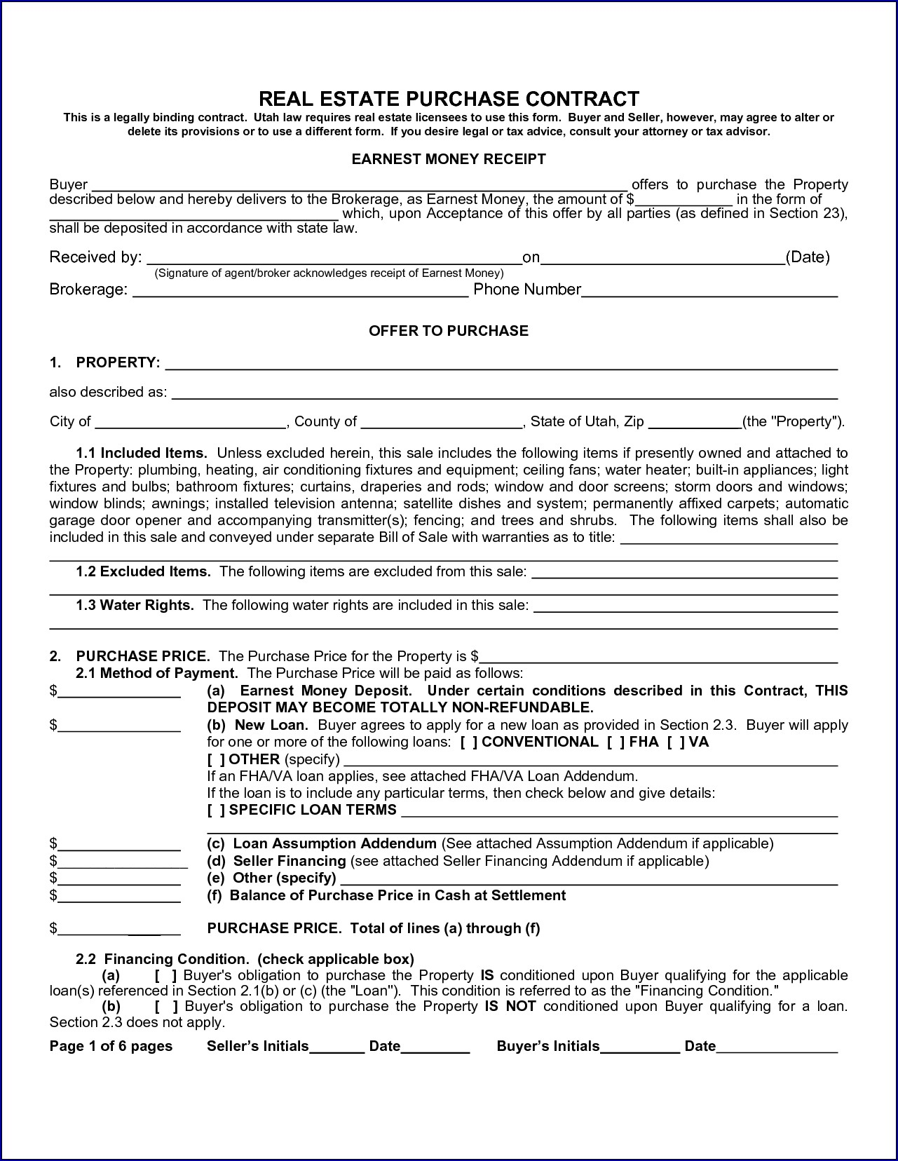 Sample of Contract for Buying a House From Owner
