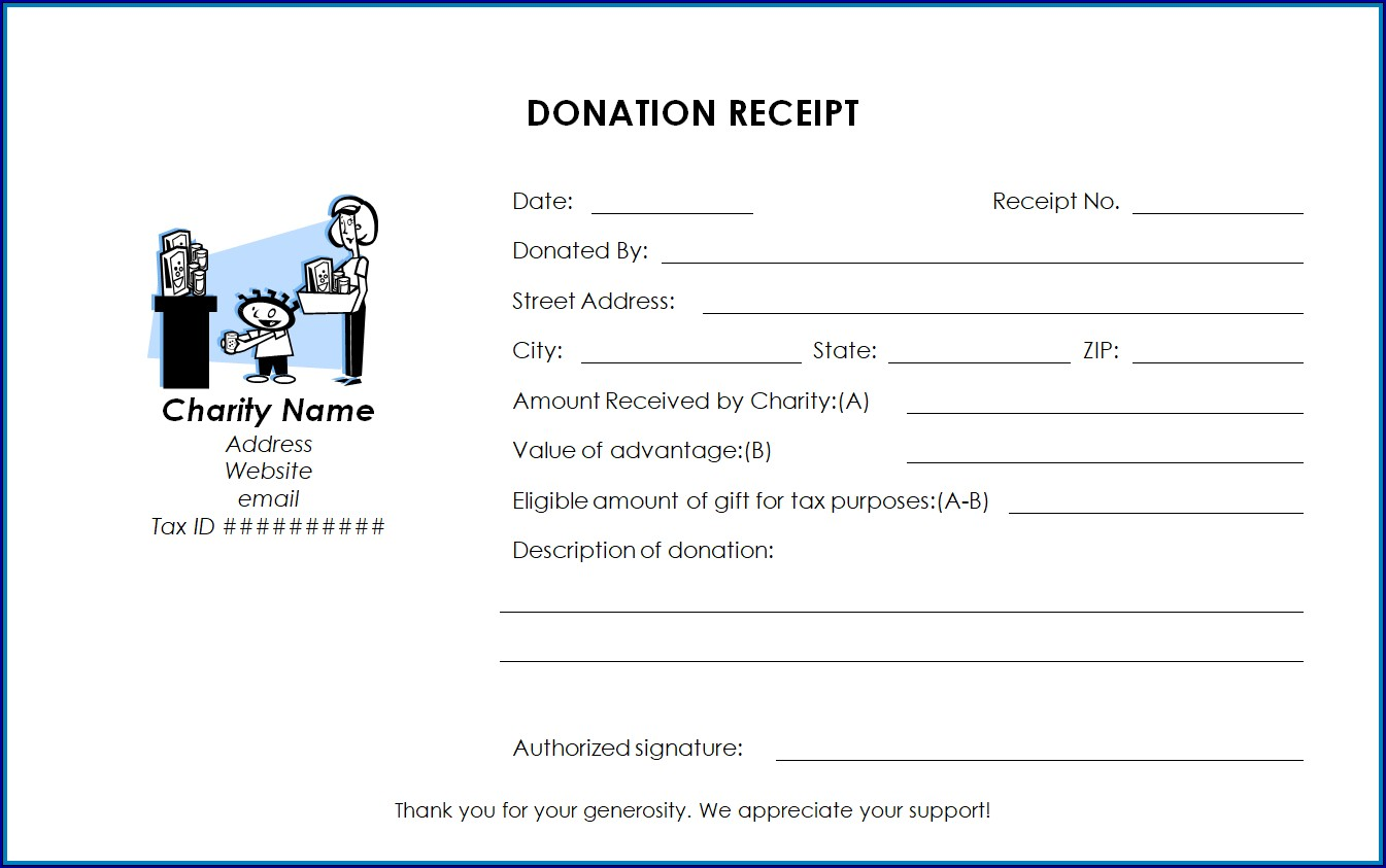 Tax Receipt for Donation Sample